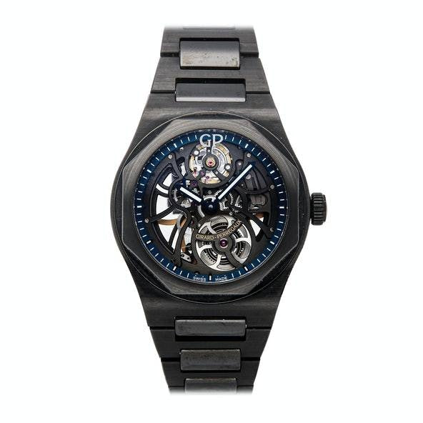 Girard Perregaux Laureato Limited Edition 42mm Black Ceramic (81015-32-176032A) - WATCHES Boston