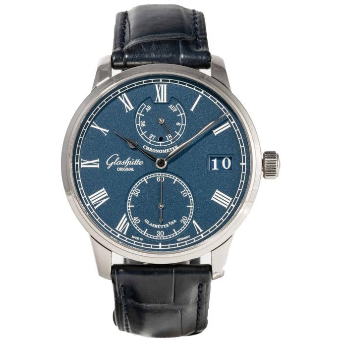 Glashutte Original Senator White Gold Blue (1-58-01-05-34-30) - Boston