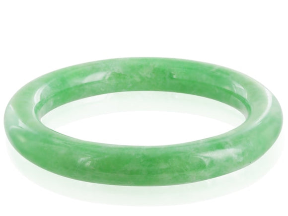 Green Jadeite Jade Bangle - Jewelry Boston