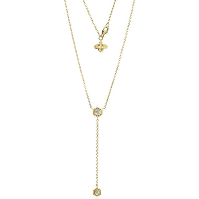 Gumuchian 0.25 Carat Mini B Y Drop Necklace H-I/VS-SI1 (Yellow Gold) - Jewelry Designers Boston