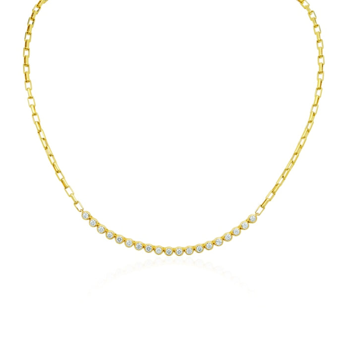 Gumuchian 1.07 Carat Moonlight Necklace H-I/VS-SI1 (Yellow Gold) - Jewelry Designers Boston