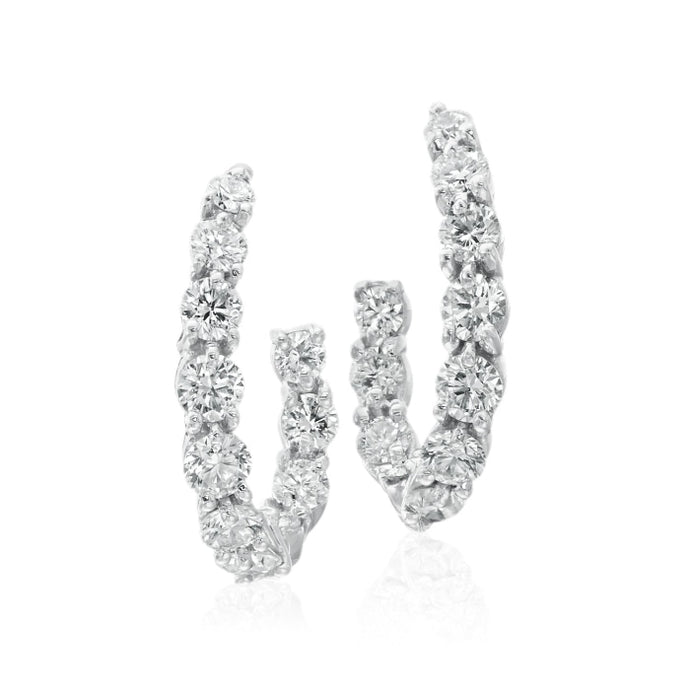 Gumuchian 1.16 Carat New Moon Diamond Earrings H-I/VS-SI1 (White Gold) - Jewelry Designers Boston