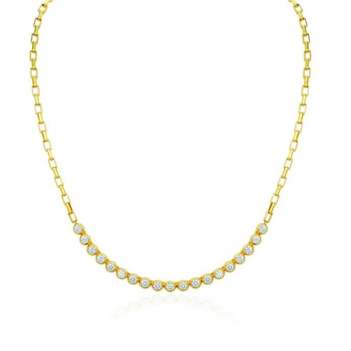 Gumuchian 1.90 Carat Moonlight Necklace H-I/VS-SI1 (Yellow Gold) - Jewelry Designers Boston