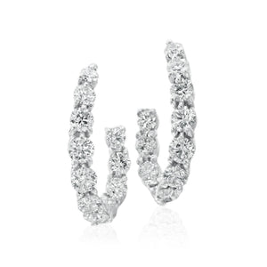 Gumuchian 4.17 Carat New Moon Diamond Earrings H-I/VS-VSI (White Gold) - Jewelry Designers Boston
