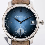 H. Moser & Cie. Endeavour Perpetual Calendar Funky Blue Dial White Gold 40.8mm (1341-0207) - Boston