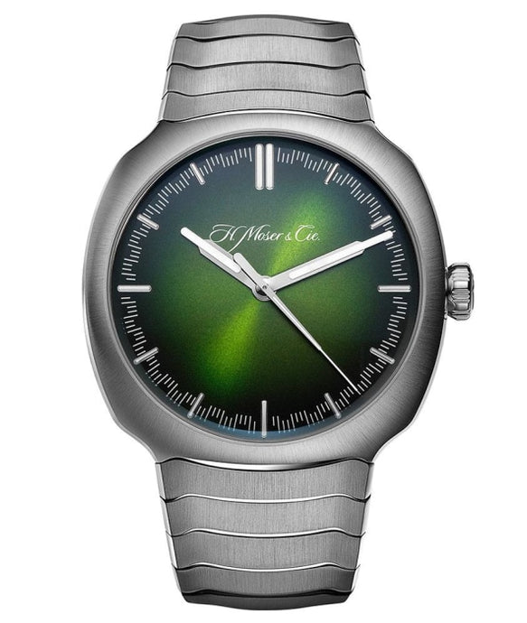 H. Moser & Cie. Streamliner Center Seconds Matrix Green Fumé Dial Stainless Steel 40mm (6200-1200) - Boston