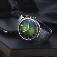 Load image into Gallery viewer, H. Moser & Cie. Streamliner Center Seconds Matrix Green Fumé Dial Stainless Steel 40mm (6200-1200) - Boston