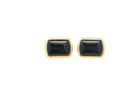 Halcyon Days Black & Gold Cuff Links - Cufflinks Boston