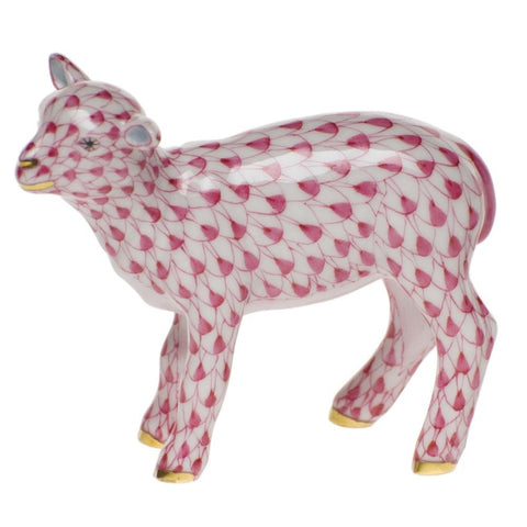 Herend Baby Lamb (Raspberry) - Home & Decor Boston