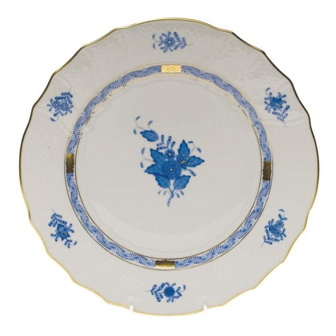 Herend Blue Chinese Bouquet 10.5 Dinner Plate (4 Remaining) - Engagement Boston