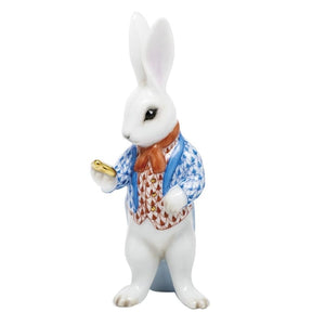 Herend Dressed Rabbit (Blue) - Gifts Boston