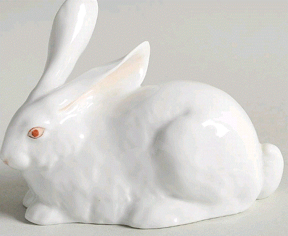 Herend Lying White Rabbit - Home & Decor Boston