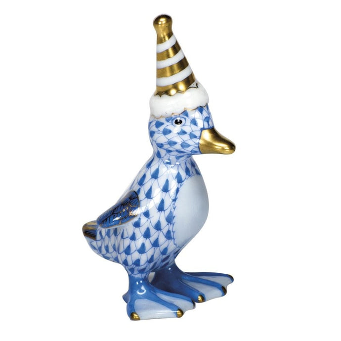 Herend Party Duckling (Blue) - HOME & DECOR Boston