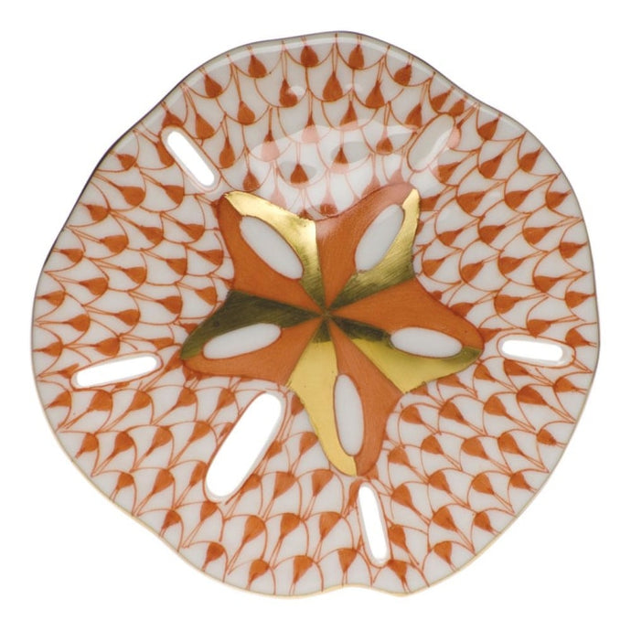 Herend Sand Dollar (Rust) - Home & Decor Boston
