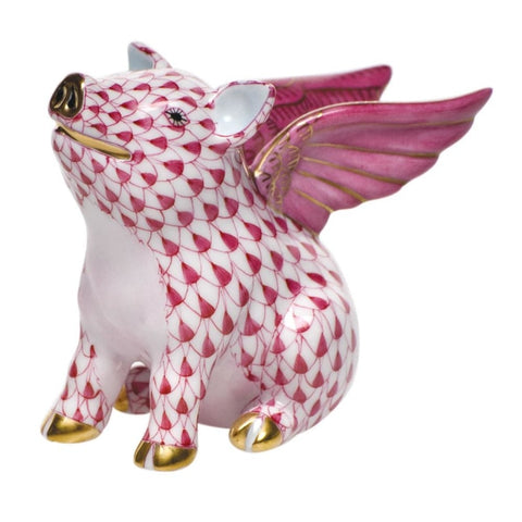 Herend When Pigs Fly (Raspberry) - Home & Decor Boston