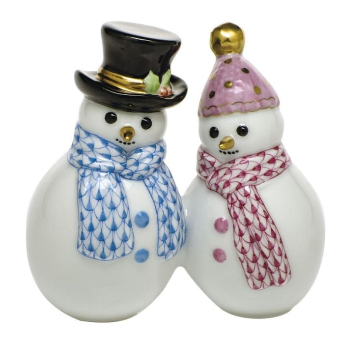 Herend~Snowman Couple - HOME & DECOR Boston