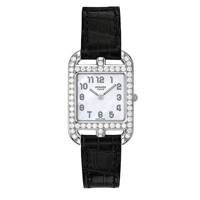 Hermes Cape Cod Leather Watch With Diamonds 23Mm - Watches Boston