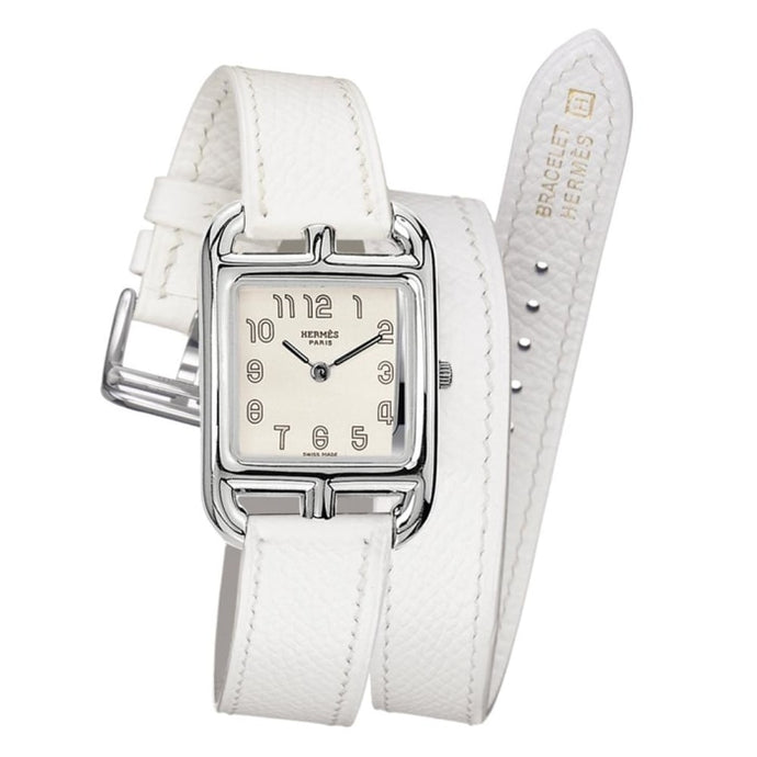 Hermes Cape Cod Quartz White Watch - Watches Boston