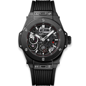 Hublot Big Bang Meca-10 Black Magic 45mm Polished Black Ceramic/Rubber (414.CI.1123.RX) - WATCHES Boston