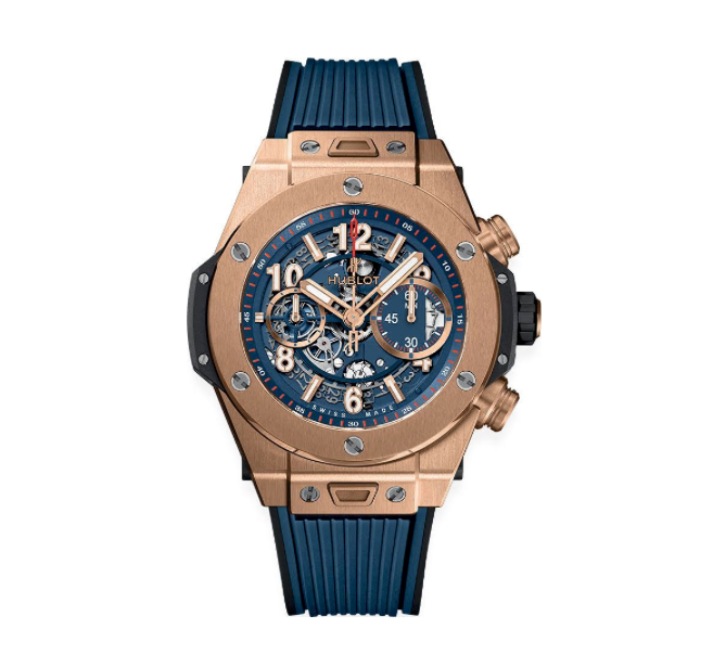 Hublot Big Bang Unico King Gold Blue 45mm (411.OX.5189.RX) - WATCHES Boston
