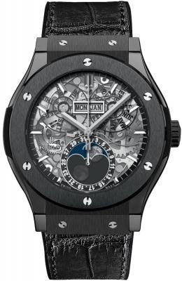 Hublot Classic Fusion Black Magic Aerofusion Moonphase 45Mm Titanium (517.nx.0170.lr) - Watches Boston