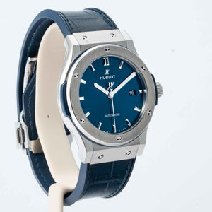 Hublot Classic Fusion Blue Dial Titanium 42mm (542.NX.7170.LR) - Boston