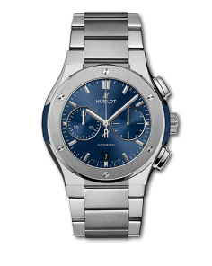 Hublot Classic Fusion Chronograph Titanium Blue Bracelet 42mm (540.NX.7170.NX) - WATCHES Boston