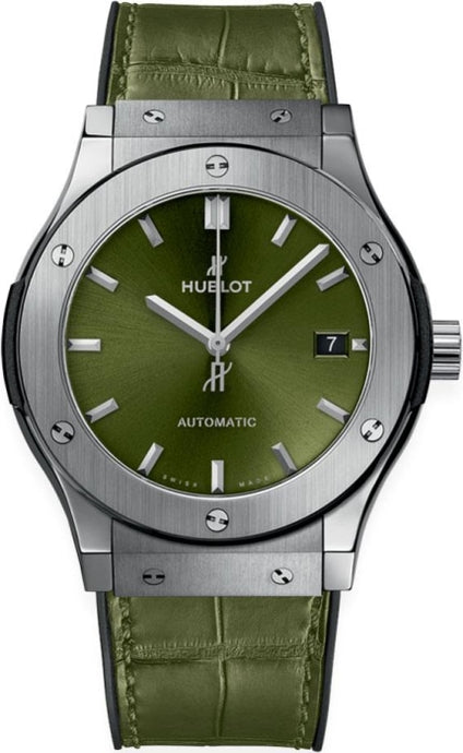 Hublot Classic Fusion Titanium Green 45mm (511.NX.8970.LR) - WATCHES Boston