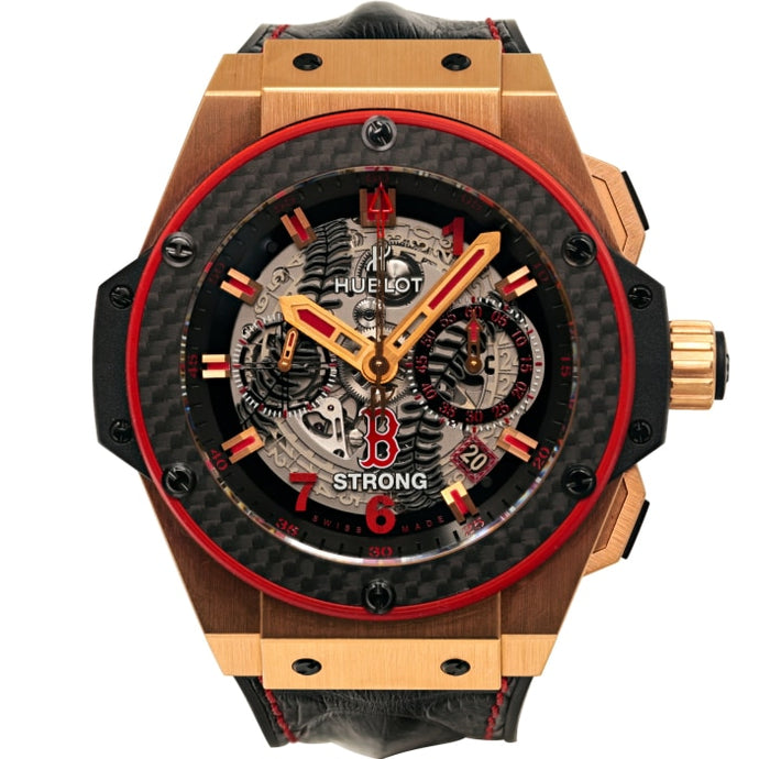 Hublot King Power Rose Gold Chronograph Red Sox Boston Strong Limited Edition No. 3 Of 5 (701.oq.0113.hr.b) - Watches Boston