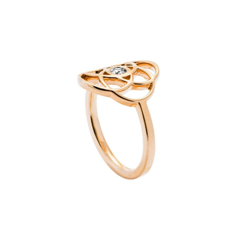IKIGAI Gold Ring with Diamond - JEWELRY Boston