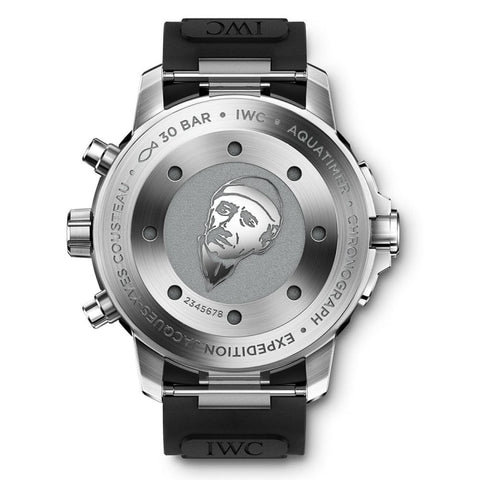 Iwc Aquatimer Chronograph Expedition Jacques-Yves Cousteau 44Mm Stainless Steel (Iw376805) - Watches Boston