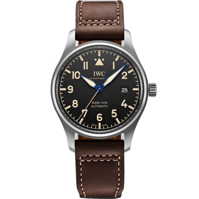 IWC Pilot Mark XVIII Heritage Titanium Black Dial 40mm/Titanium (IW327006) - WATCHES Boston