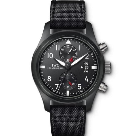 Iwc Pilots Watch Chronograph Top Gun Ceramic 46Mm (Iw388001) - Watches Boston