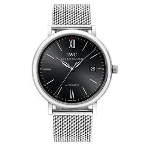 Iwc Portofino 40Mm Stainless Steel (Iw356506) - Watches Boston