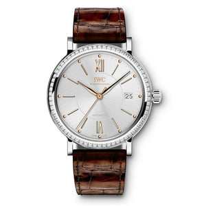 Iwc Portofino Automatic 37 Stainless Steel & Diamonds (Iw458103) - Watches Boston