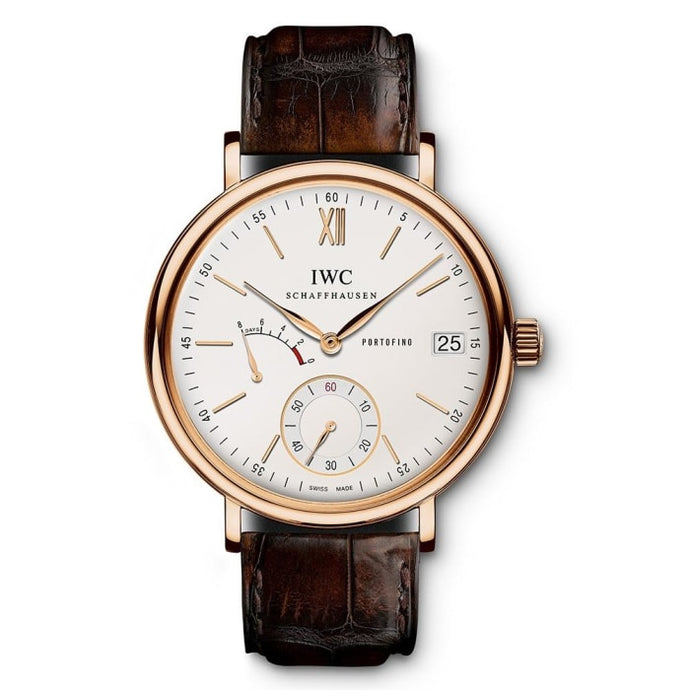 Iwc Portofino Hand-Wound 8-Days 45Mm Rose Gold (Iw510107) - Watches Boston