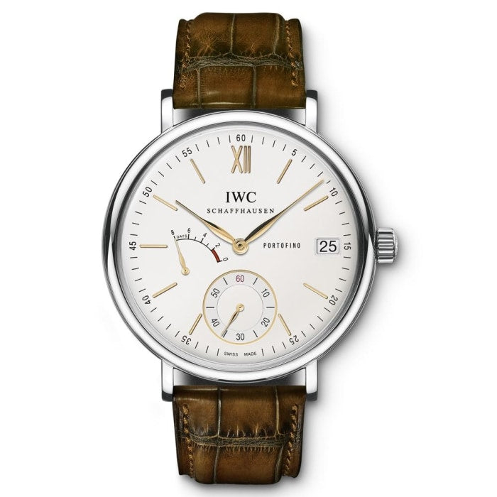 Iwc Portofino Hand-Wound 8-Days 45Mm Stainless Steel (Iw510103) - Watches Boston