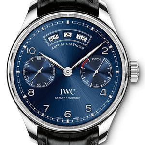 Iwc Portugieser Annual Calendar 44.2Mm Stainless Steel (Iw503502) - Watches Boston