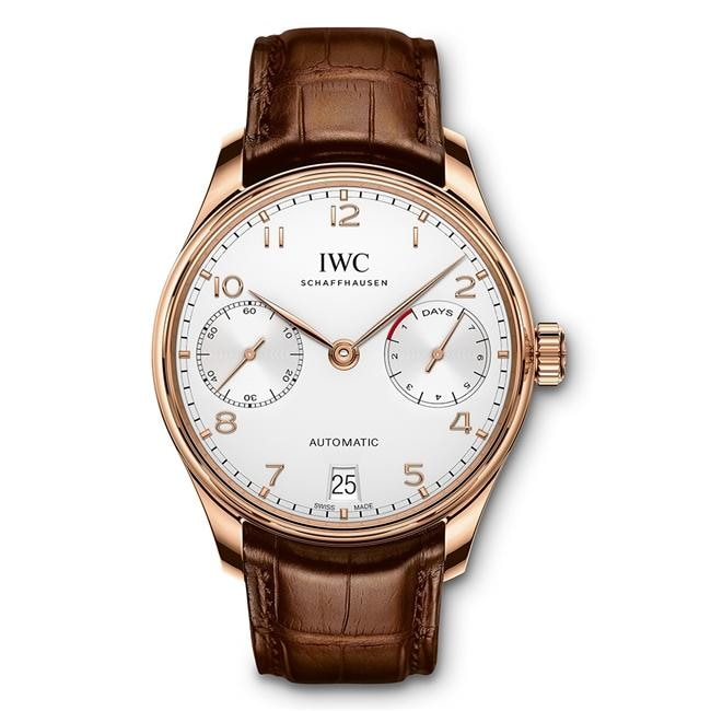 Iwc Portugieser Automatic 7 Day 42.3Mm Rose Gold (Iw500701) - Watches Boston