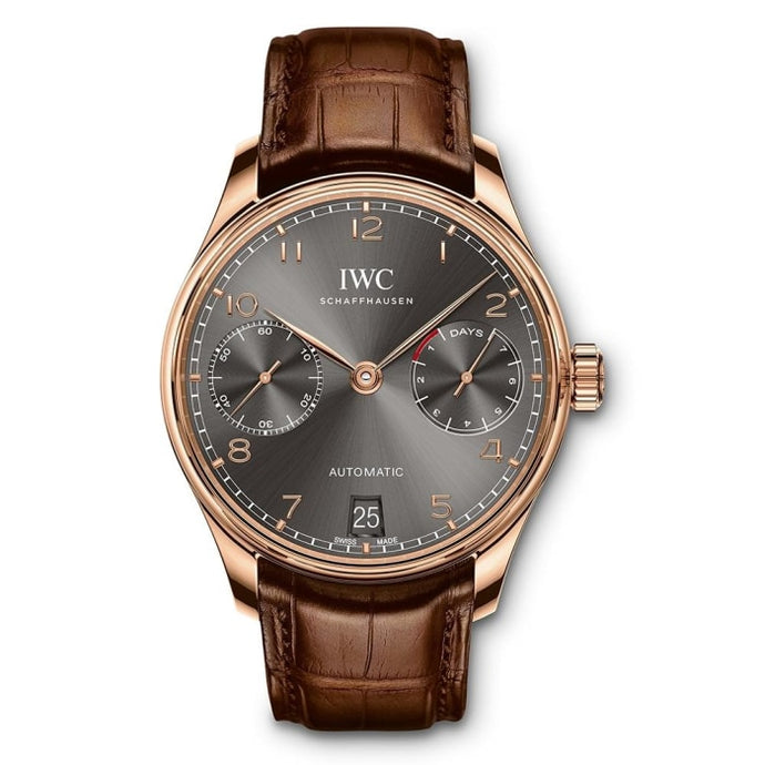 Iwc Portugieser Automatic 7 Day 42.3Mm Rose Gold (Iw500702) - Watches Boston