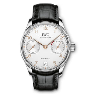 Iwc Portugieser Automatic 7 Day 42.3Mm Stainless Steel (Iw500704) - Watches Boston