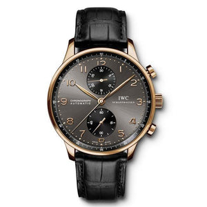 Iwc Portugieser Chronograph 40.9Mm Rose Gold (Iw371482) - Watches Boston