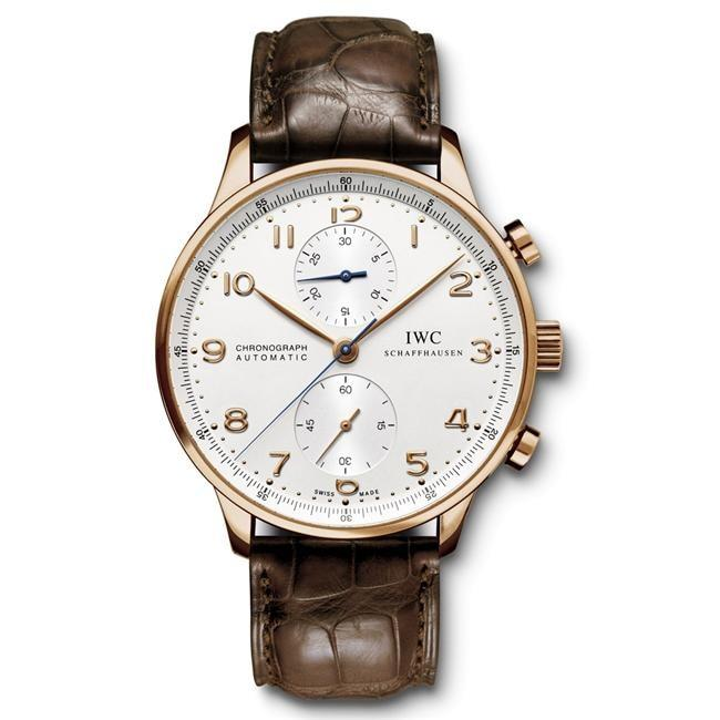 Iwc Portugieser Chronograph 40.9Mm Rose Gold (Iw371480) - Watches Boston
