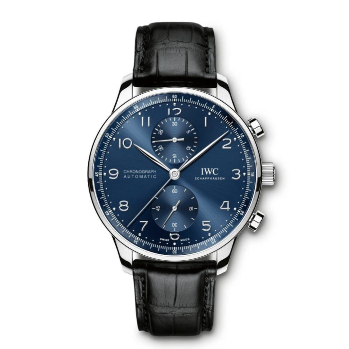 IWC Portugieser Chronograph 40.9mm Stainless Steel (IW371606) - WATCHES Boston