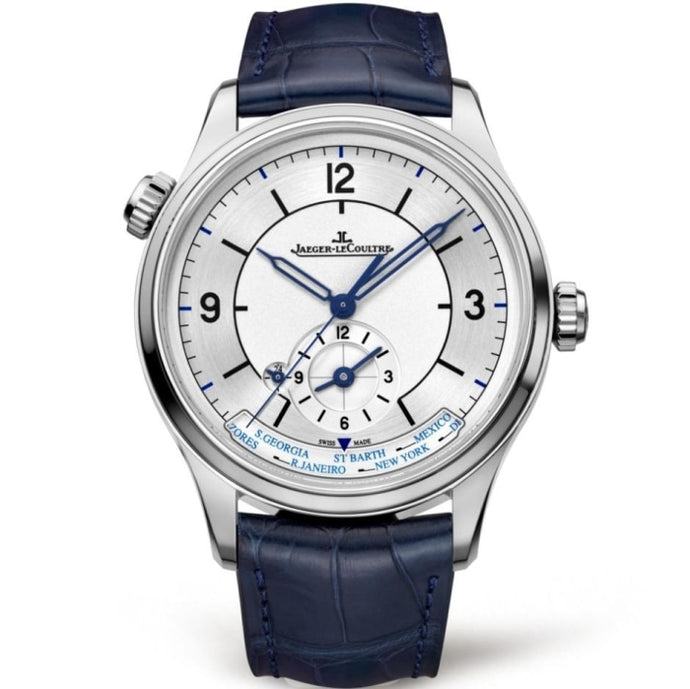 Jaeger Le Coultre Master Geographic Stainless Steel/Strap (Ref. Q1428530) - WATCHES Boston