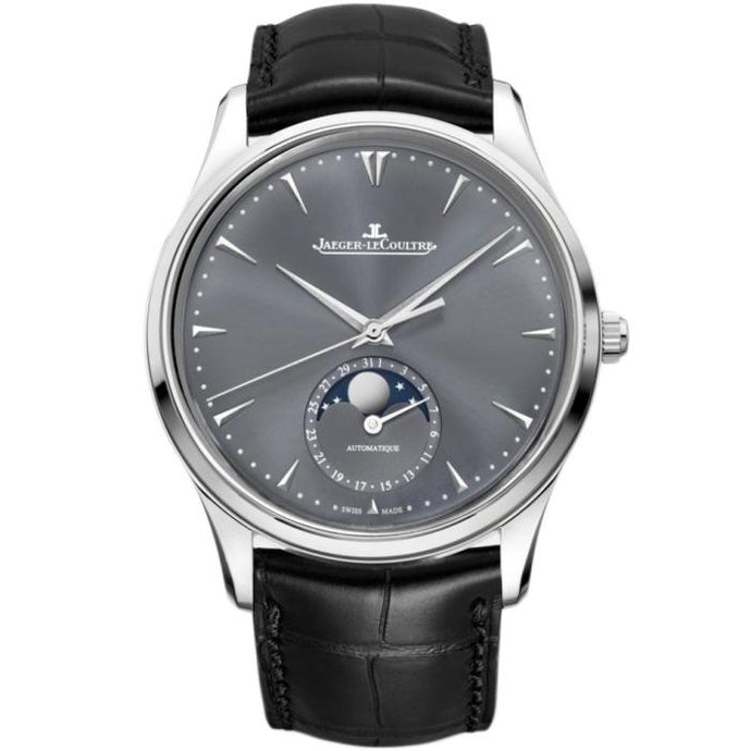 Jaeger Le Coultre Master Ultra Thin Moon Steel Gry - Boston