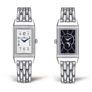 Jaeger-Lecoultre Reverso One Duetto Moon Stainless Steel & Diamonds (3358120) - Watches Boston