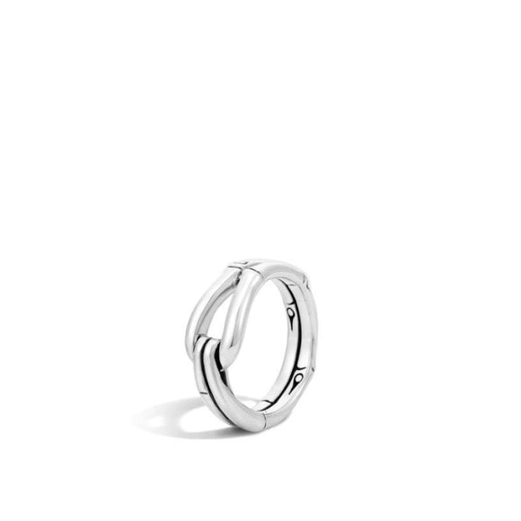 John Hardy~ Bamboo Sterling Silver Hook Ring - Jewelry Boston