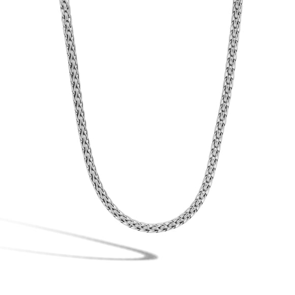 John Hardy~ Classic Chain Woven Sterling Silver Necklace - Jewelry Boston