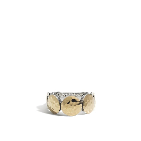 John Hardy~ Dot 9Mm Two-Tone Hammered Ring - Jewelry Boston